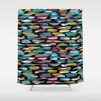 stripes Shower Curtains featuring Stripes by Meryl Pardoen