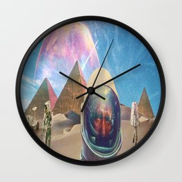 Astronauts in the Desert Wall Clock