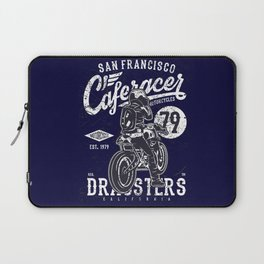 Caferacer Vintage Motorcycle Typography Laptop Sleeve