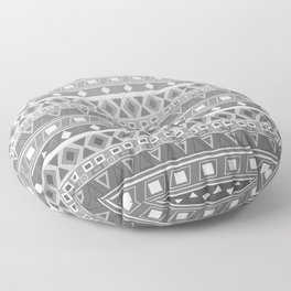 black and white pattern, geometric pattern, gradint, gray striped Floor Pillow