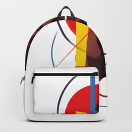 Famous people in a bauhaus style - Grace Jones Backpack