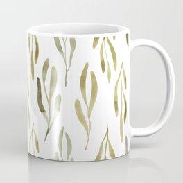 Greenery Watercolor Pattern Coffee Mug