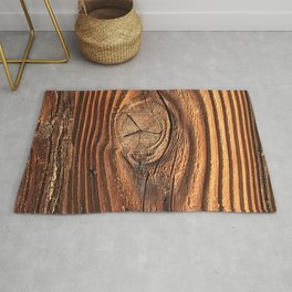Honey Colored & Mahogany-Red Wood With Elegant Knot Rug