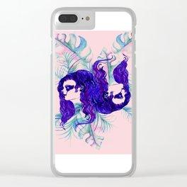 Stylized Gemini zodiac Clear iPhone Case