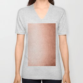 Simply Sweet Peach Coral Shimmer Unisex V-Neck