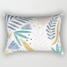 Sketchy Floral Rectangular Pillow