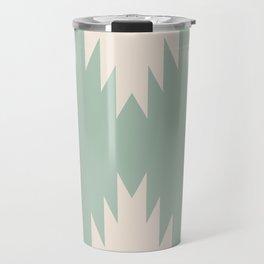 Geometric Southwestern Minimalism - Sage Green Travel Mug