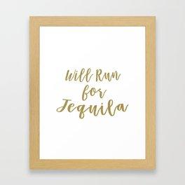 Will Run for Tequila Framed Art Print
