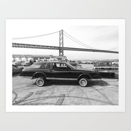 San Francisco Lowrider Art Print