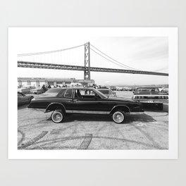 San Francisco Lowrider Art Print