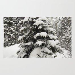 Carol M Highsmith - Snowy Pine Trees Rug
