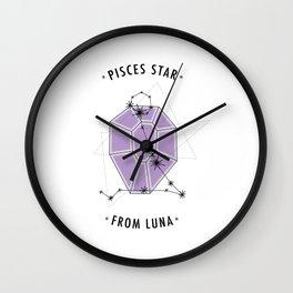 Pisces Star Wall Clock