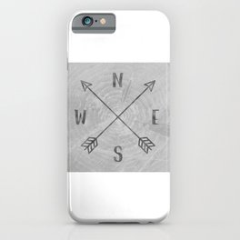 Compass Black and White Tree iPhone Case