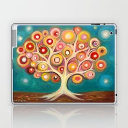 Tree of life with colorful abstract circles Laptop & iPad Skin