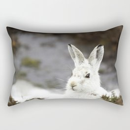 white mountain hare Rectangular Pillow