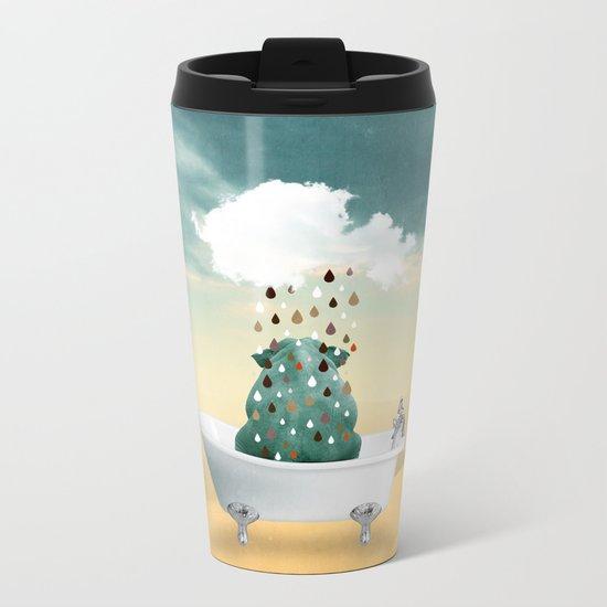SHOWER CURTAIN Metal Travel Mug