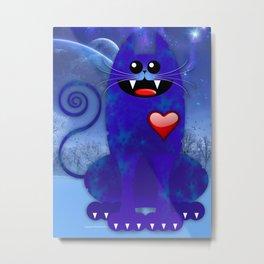 BIG BLUE Metal Print