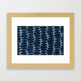 Blue Cells Framed Art Print