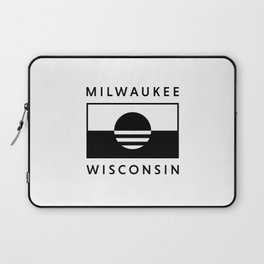 Milwaukee Wisconsin - White - People's Flag of Milwaukee Laptop Sleeve