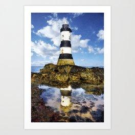 Penmon Lighthouse Painting Art Print