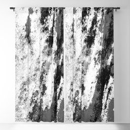 Perseverance Black & White Blackout Curtain