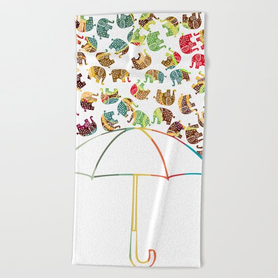 Rain in Africa Beach Towel