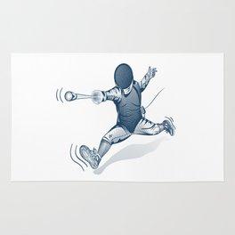 Fencer. Print for t-shirt. Vector engraving illustration. Rug