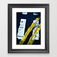 Road Markings Framed Art Print
