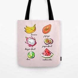 Tropical fruits pattern Tote Bag