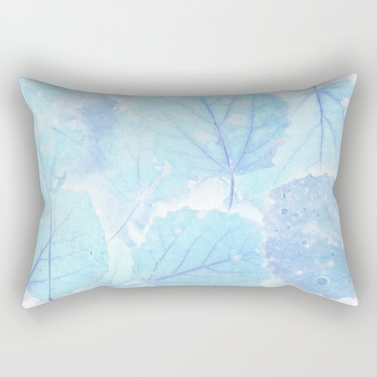 Blue autumn leaves Rectangular Pillow