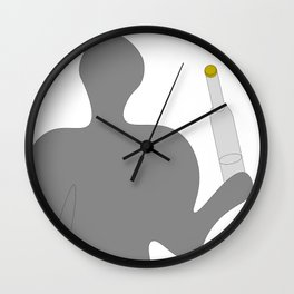 Somebody with vodka Wall Clock