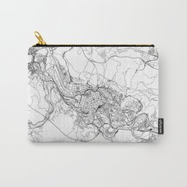 Bilbao White Map Carry-All Pouch