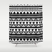 ethnic Shower Curtains featuring |Ethnic by ricardocarn