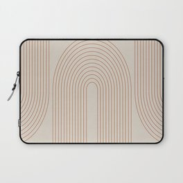Geometric Curves in Beige and Brown No. 1 Laptop Sleeve