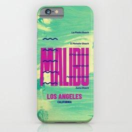 MALIBU LOS ANGELES CALIFORNIA iPhone Case