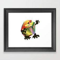Mesh Monster Framed Art Print