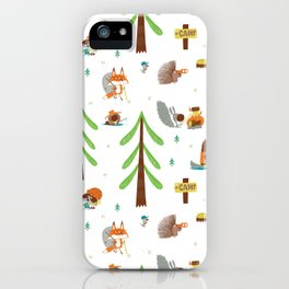 Woodland Campers Pattern iPhone Case