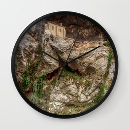 The Holy Cave of Covadonga Wall Clock