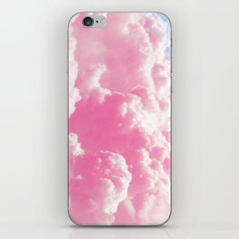 Retro cotton candy clouds iPhone Skin