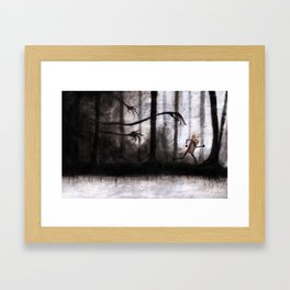 Run as fast as you can Framed Art Print