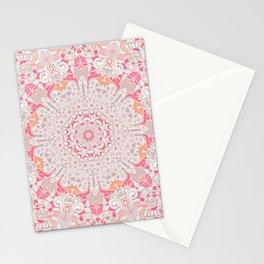 BOHO SUMMER JOURNEY MANDALA - PASTEL ROSE PINK Stationery Cards