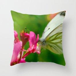 Butterfly's inn ... Throw Pillow