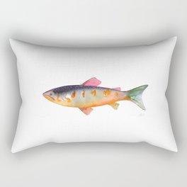 Watercolor Trout Rectangular Pillow