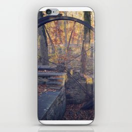 Water wheel (in late fall) iPhone Skin