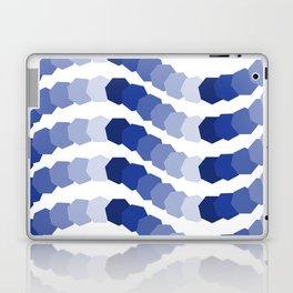 Monochromatic Blue Heptagon Waves Laptop & iPad Skin