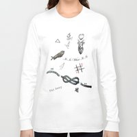 tattoos Long Sleeve T-shirts featuring Louis's Tattoos by Kate & Co.