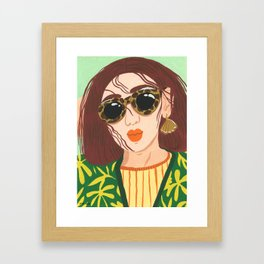 Frizzy Hair Framed Art Print