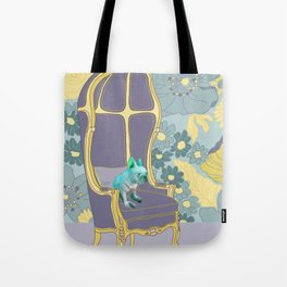 Dog in a chair #4 French Bulldog Tote Bag
