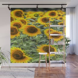 Summer Sunflowers Wall Mural