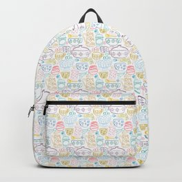 Vintage Dishes in Rainbow Backpack